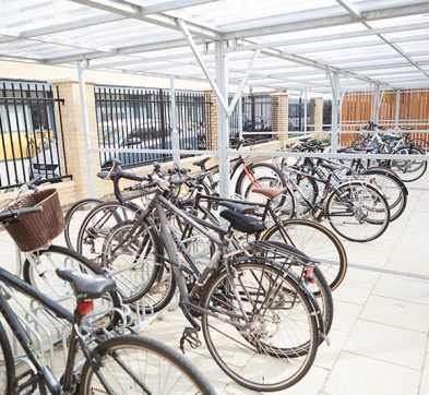 Abbey College Cambridge student bike storage