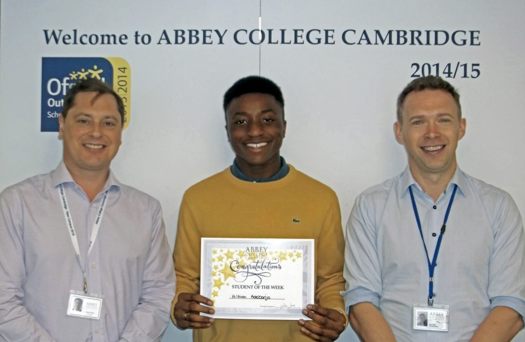 Abbey College Cambridge A level student Hilky