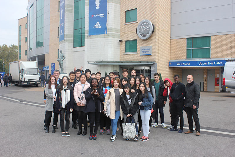 Abbey College Cambridge Business Students Visit Chelsea Football Club