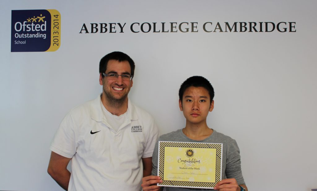 Abbey College Cambridge Summer School Student Charles