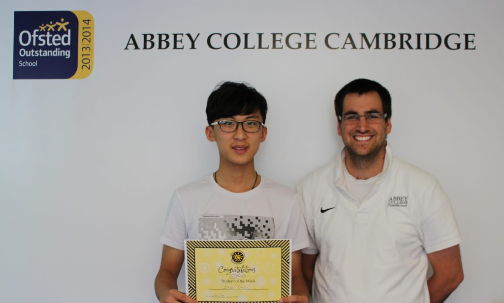 Abbey College Cambridge Summer School Student Eric