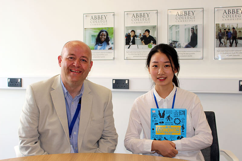Abbey College Cambridge Summer School Student Li Keer
