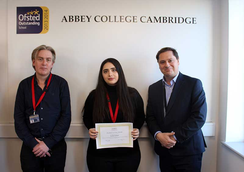 Abbey College Cambridge A-Level Student Andia