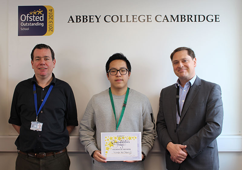 Abbey College Cambridge A Level Student Harry
