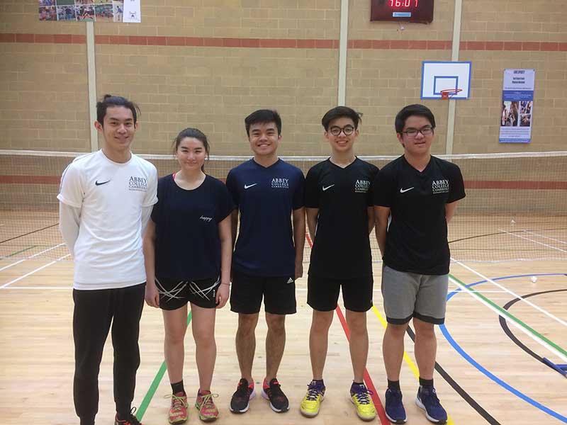 Abbey College Cambridge Badminton Team