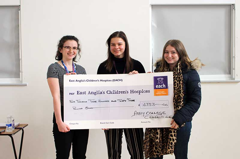 Abbey College Cambridge Fundraising Success