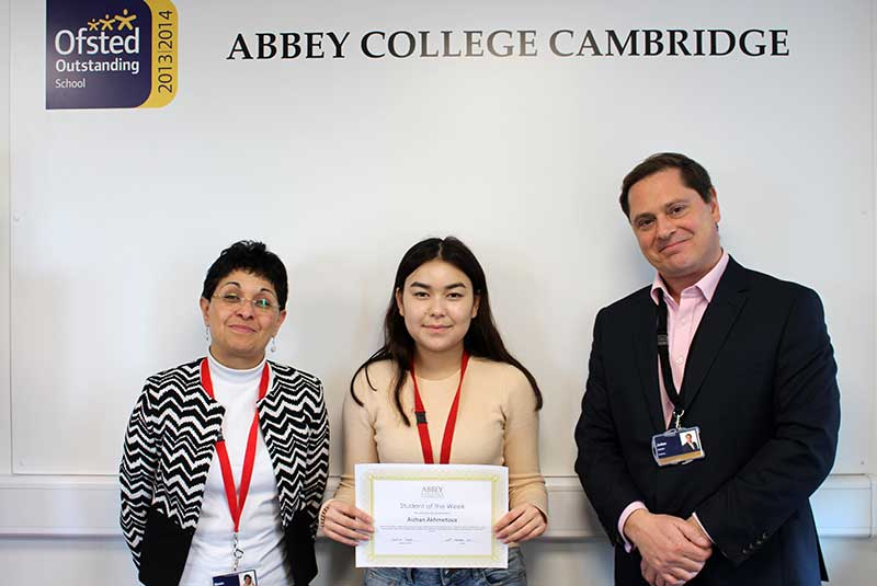 Abbey College Cambridge Student Aizhan