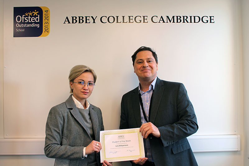 Abbey College Cambridge Student Ismigul