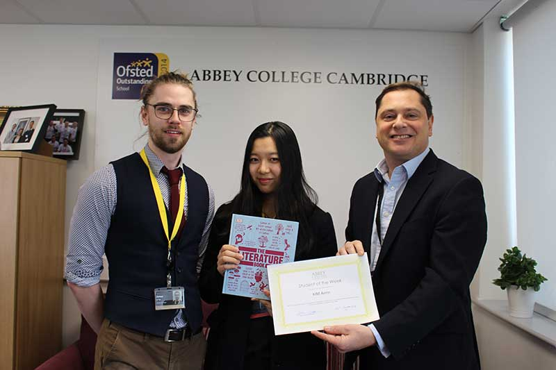 Abbey College Cambridge Student of the Week Aerin