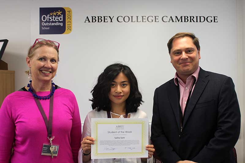 Abbey College Cambridge Student of the Week Salita