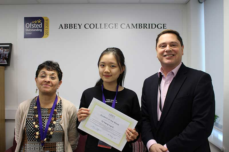 Abbey College Cambridge Student of the Week