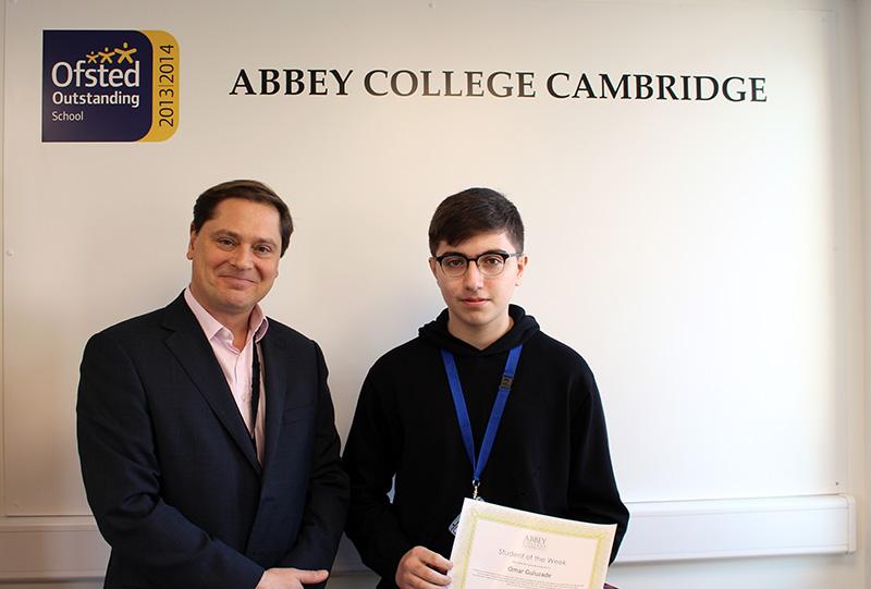Abbey College Cambridge Student Omar