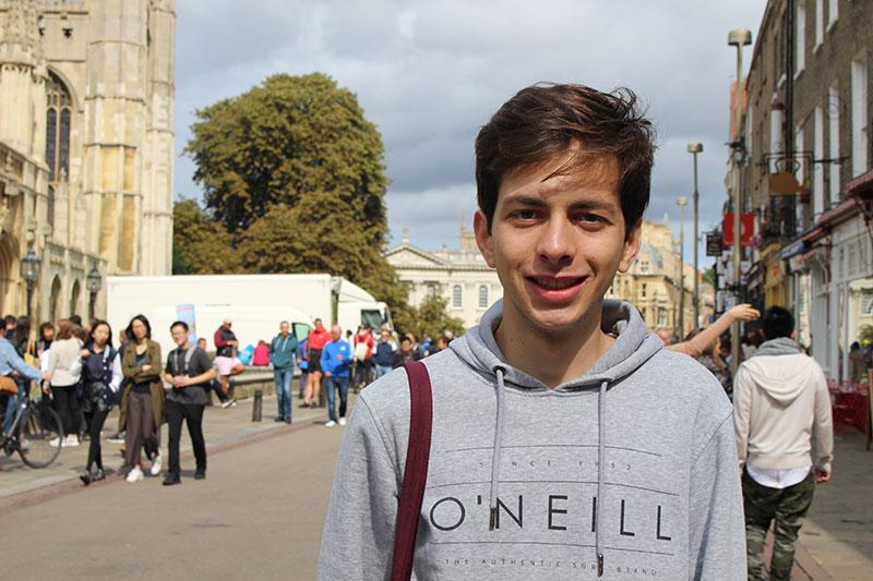 Abbey College Cambridge Summer School Student Juan