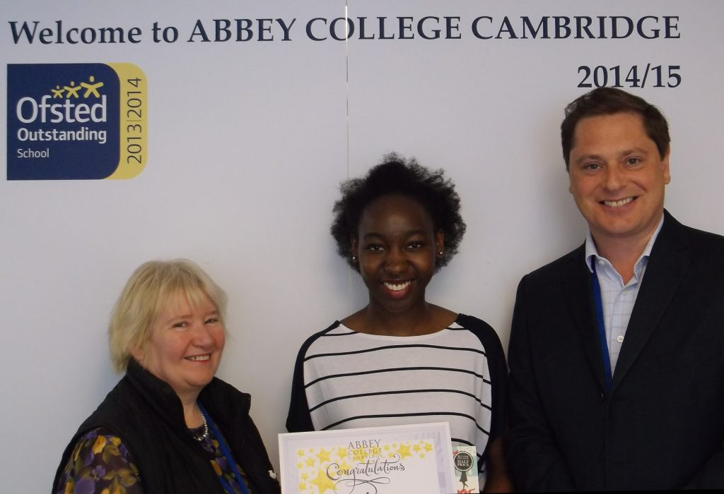 Abbey College Cambridge A level student Kapampa