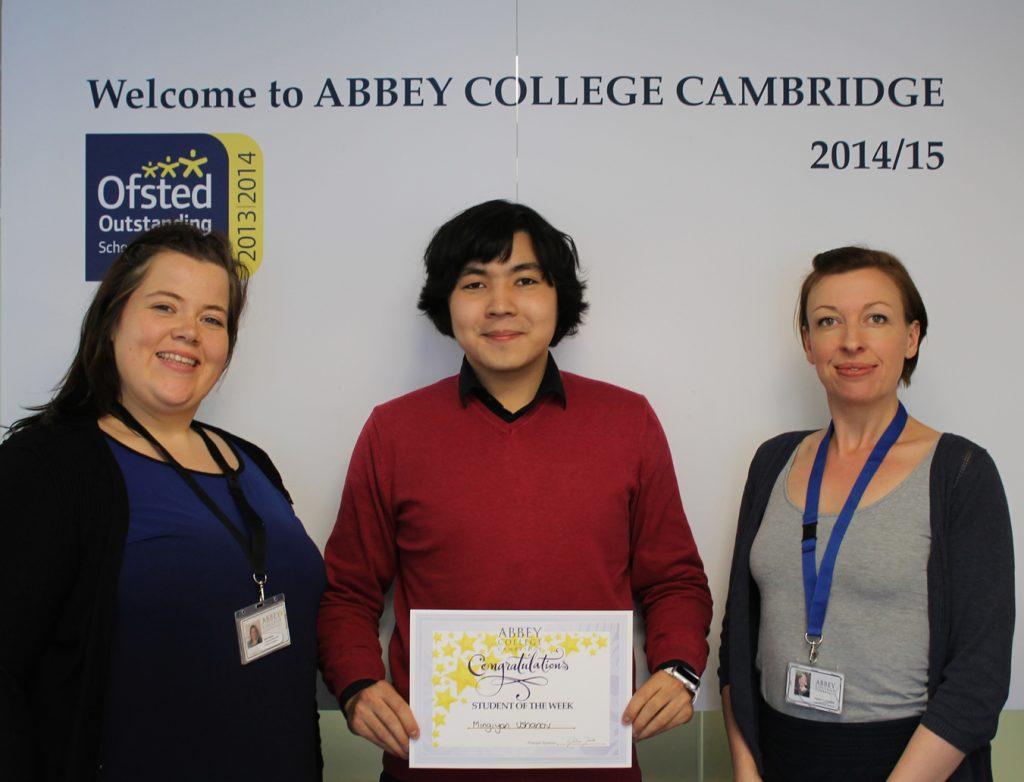 Abbey College Cambridge A level student Migiyan