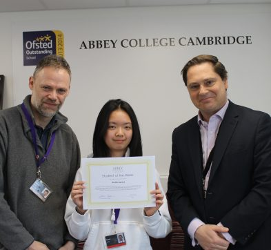 Abbey College Cambridge student of the week Aurora, 17th February 2020