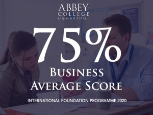 Business Foundation average score in 2020 75%