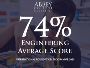 Engineering Foundation programme average score in 2020 is 74%