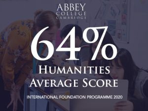 Humanities Foundation average score in 2020 is 64%