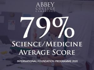 Science/Medicine Foundation average score in 2020 is 79%