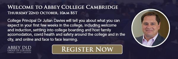 Abbey College Cambridge January start information webinar