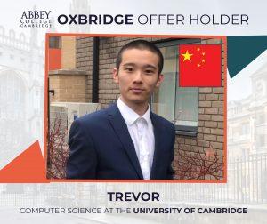 Abbey College Cambridge Oxbridge Offer Holder 2021, Trevor from China