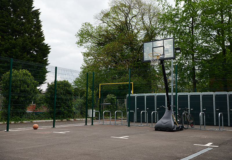 Orchard House Basketball Court and Secure Bicycle Storage